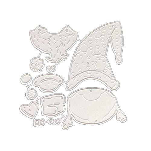 KANXINER Die Cuts Scrapbooking Supplies Kit, Scrapbooking Embossing Die Cutting Machine- Santa Claus, Metal Dies for Paper Crafting & Card Making DIY, 3.62x3.89in