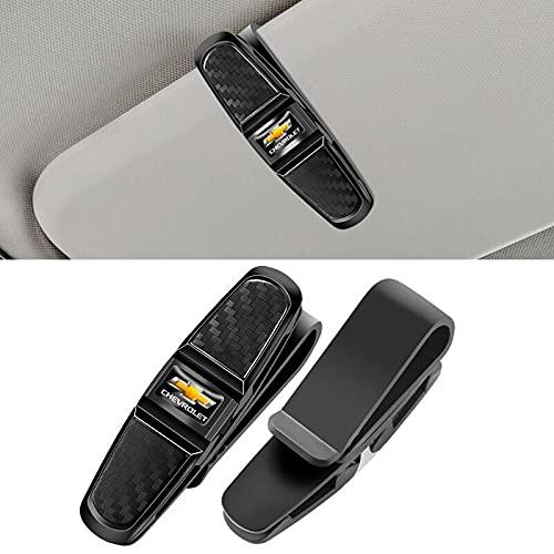 1 clip de sujeción para gafas de sol para Chevrolet Cruze Captiva Lacetti Aveo Niva Trax Onix Tahoe Camaro Malibu (negro)