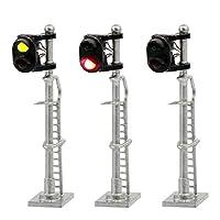 情景コレクション 交通 信号ライト 2灯式信号機 銀色金属ライト柱 3本入り 1:150 鉄道模型 建物模型 ジオラマ 情景コレクション 教育 DIY