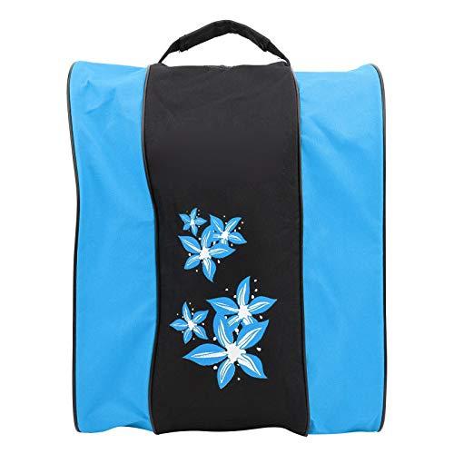 Soapow Mochila de nailon de 3 capas para patinar con un solo hombro, bolsa de ocio y deportes