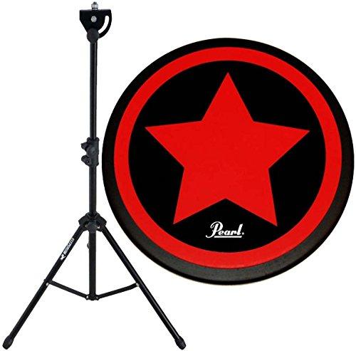 """Pearl PDR-08SP Practice Drum Pad Übungspad 8"""" + KEEDRUM DPS Übungspadständer mit Tasche"""
