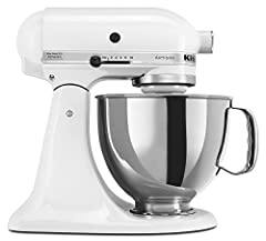 This Certified Refurbished product is tested & certified by KitchenAid to look and work like-new. The product includes original accessories, and is backed by a 6-month warranty 325-watt mixer with 10 speeds; 5-quart stainless steel bowl Tilt-back hea...