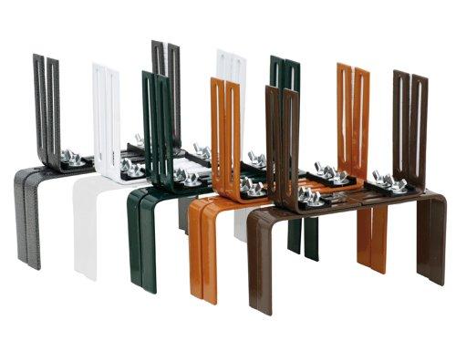 Siena Garden Blumenkastenhalter Standard, H-Form, terra, 2 Stück, 678259