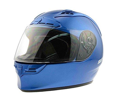 CALTER Casque de Moto wandal, Bleu, m, Helma de Mot de M4
