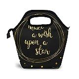 Bolsa Térmica Comida Bolsas De Almuerzo para Mujeres Hombres Niñas Niños Bolsa Isotérmica De Almuerzo Doodle Wish Dream Star