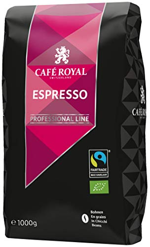 Café Royal Espresso Bio Fairtrade Max Havelaar Professional Line Bohnenkaffee, 1er Pack (1 x 1 kg)