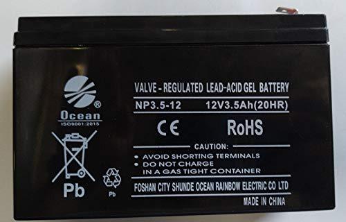 Indalchess Batteria 12V E 3,5 AH GENERICA per Auto E MOTOCICLI ELETTRICI 12V