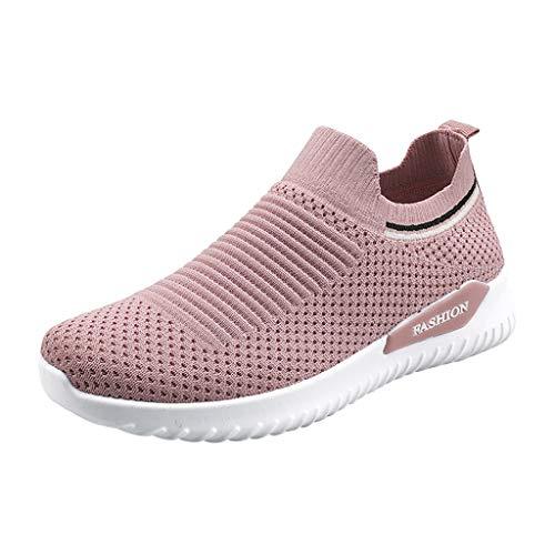 ZODOF zapatos deportivos mujer Moda Señoras Respirable Antideslizante Zapatillas Cojines Casual Zapatos para correr Al aire libre Zapatos de senderismo zapatillas running