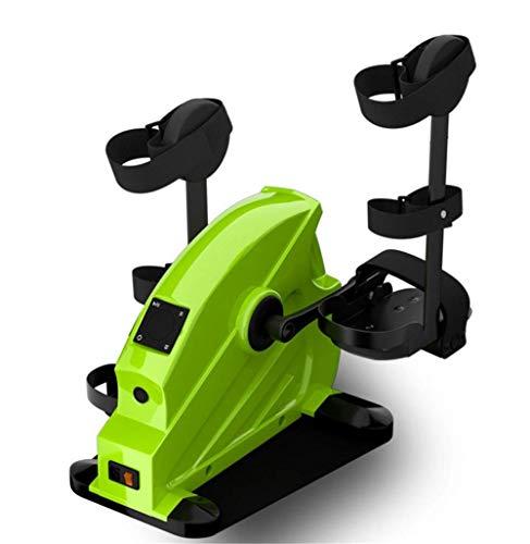 YLJYJ Ejercitador de Pedales - Bicicleta de Ejercicios compacta para Debajo del Escritorio con Resistencia Ajustable y Pantalla LCD para Entrenamiento de piernas y Brazos