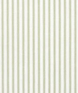 Covington Fern Green Woven Ticking Fabric - by the Yard