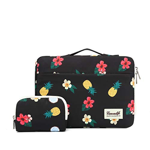 Canvaslife 360° Protective 13 inch-13.5 inch Waterproof Laptop Case Bag Sleeve with Handle for 13.3' MacBook Air | 13' MacBook Pro Retina and 13.3 inch 13.5 inch Laptop(Black Pineapple)