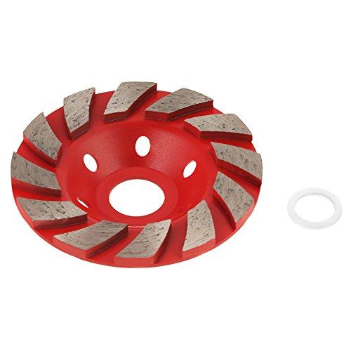 1 Stücke 100mm Diamant Segmentschleifscheibe Tasse Schleifscheibe für Granit Mauerwerk Stein Beton Keramik Polieren (rot)