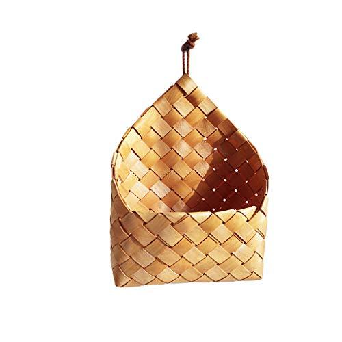 NAYUKY Hand-Woven Hanging Storage Basket Garten-Wand Indoor Outdoor Dekoration Geflochtene Speicher-Korb Garten-Wand Blumentopf Blumen-Behälter