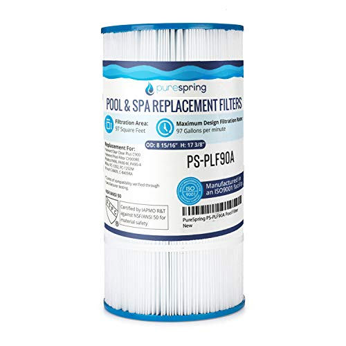 PureSpring Pool Filter Cartridge Replacement for Hayward C900, C-900, CX900RE, Unicel C-8409, C-8409RA, Pleatco PA-90