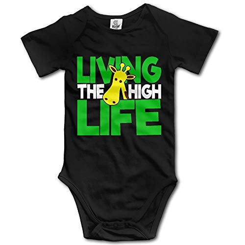 SDGSS Combinaison Bébé Bodysuits Living The High Life Baby Boys Short Sleeves One-Piece Suit for 0-24m Baby