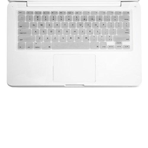 Top-Case Schutzhülle mit Tastatur für MacBook Weiß A1181 Silber MacBook 13
