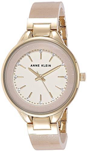 Anne Klein Women's AK/1408CRCR Premium Crystal Accented Cream Bangle Watch is $39.26 (40% off)
