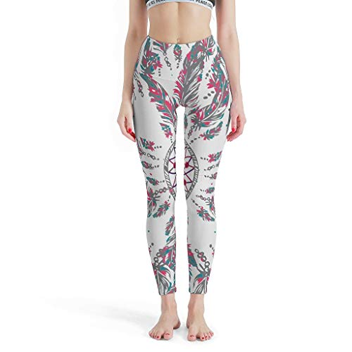O2ECH-8 Dames dromenvanger patroon fitness leggings dames hot buikregulering sport yoga broek yoga - minimalistisch nauwe leggings dames