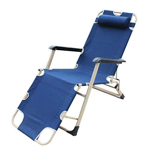 OAVVC Siesta Bed Lounge Chair - Lit Pliant Lit Simple - Lit Gigogne De Bureau Lit Multifonctionnel Renforcé, Bleu, 178 * 59 * 22cm