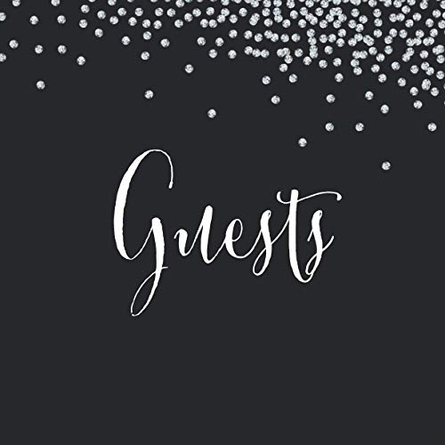 Wedding Guest Book: Black Diamonds | 200 Guests with Unique Interior | Soft Cover