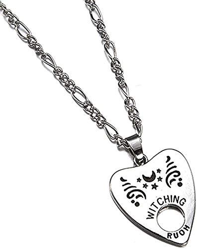 NC110 Collar Colgante Antiguo Collar Forma de Corazón Colgante de Letra Colgante Collar Estilo Punk Mujer Hombre S Joyería YUAHJIGE