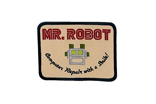 MR ROBOT FSOCIETY TV SHOW Embroidery Patch Halloween costume Badge Easy Iron On by Mr Patches