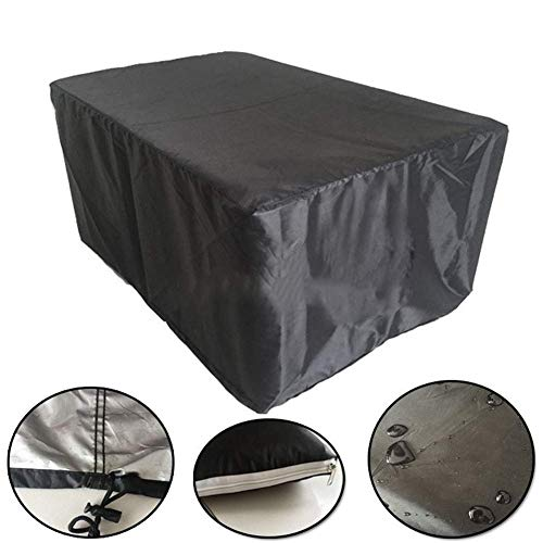 XBR Cubierta Antipolvo Cubierta para Muebles de jardín, Rectangular, Impermeable/Resistente a los Rayos UV/Resistente a la Intemperie para mesas,123 * 123 * 74 cm