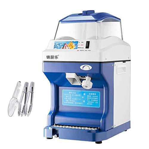 SBJ Trituradora de Hielo Industrial Comercial de 440 LBS/H, Trituradora Hielo Eléctrica y Máquina de Cono de Nieve, para Hielo Raspado, Granizados y Bebidas Congeladas