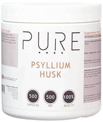 Bodybuilding Warehouse Pure Psyllium Husk / 500mg (500 Caps)