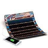 MMFXUE Caricabatterie Solare Pannello Solare 7.7w Generazione di energia a Film Sottile Ricarica Solare per Smartphone con Fotocamera Tablet Power Bank e Viaggi in Campeggio