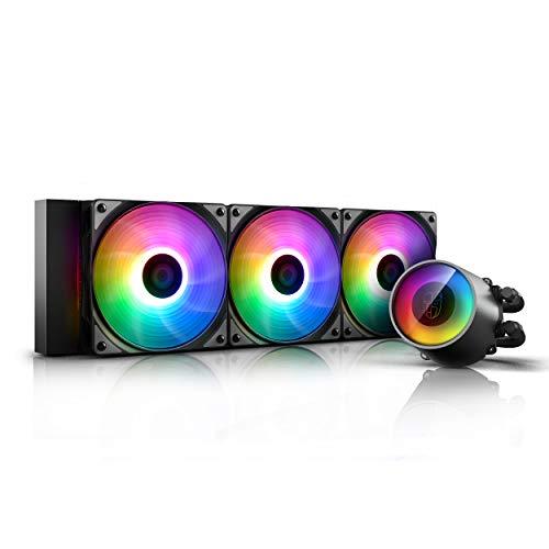 DEEP COOL Castle 360 RGB V2 ARGB AIO CPU Wasserkühlung CPU-Flüssigkeitskühlung 3x120mm PWM Lüfter, 3 Jahre Garantie