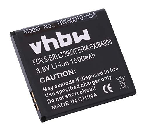 vhbw Li-Ion batería 1500mAh (3.8V) para teléfono móvil Sony Xperia E1 (D2005), E1 Dual (D2105), L (C2105), M (C1905), M Dual (C2005) y BA900.
