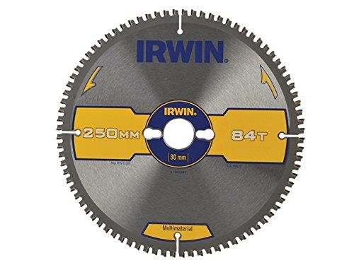 IRWIN - Hoja de sierra circular multi material 250 x 30 mm x 84T TCG/Neg