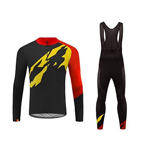 Uglyfrog 2019 Primavera/Autunno Uomo Abbigliamento da Ciclismo Set Completo da Bicicletta Outdoor Manica Lunga Jersey + Pant Traspirante Quick Dry HI2019LJ01