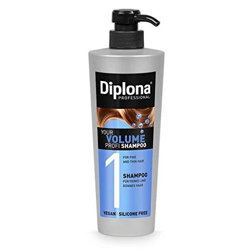 DIPLONA Shampoo für feines & dünnes Haar - YOUR VOLUME PROFI Shampoo für Frauen - veganes Haarshampoo ohne Silikone & Parabene - Damen Haarpflege 600 ml