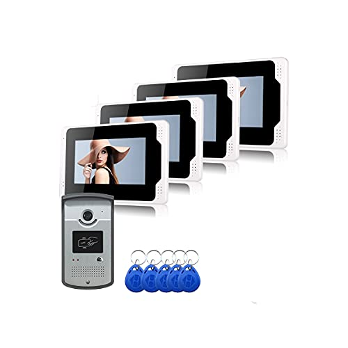 XINTONGSPP Timbre, WiFi de 7 Pulgadas HD 1080P Panel táctil Video Intercom Unidad Exterior con ángulo Ajustable Video Timbre
