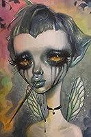 かなしみ悲しみのしょーぞー肖像. 数字キット塗り絵 手塗り DIY絵 デジタル油絵 (フレーム付き,30x45cm)