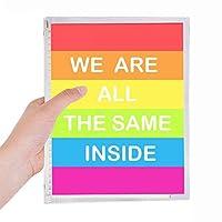 レインボーゲイ、レズビアン、トランスジェンダーのバイセクシャル 硬質プラスチックルーズリーフノートノート