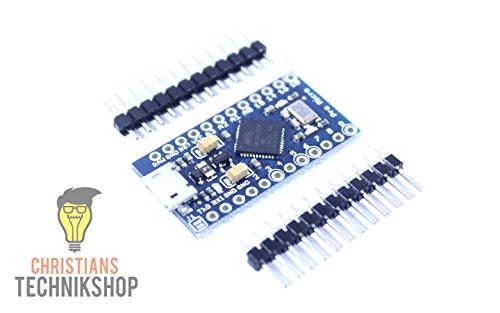 Pro Micro   Entwicklerboard für Arduino IDE   ATMEL ATmega32U4 AVR Mikrocontroller   5V/16MHz   Christians Technikshop