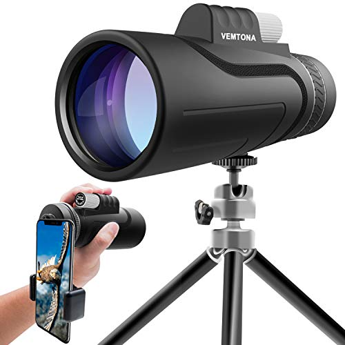 16x50 Monocular Telescope, VEMTONA High Powered Monoculars Scope for Adults with Long Tripod and...