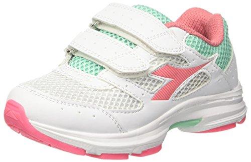 Diadora Shape 9 Jr V, Zapatillas de Running Niños, Blanco (Bianco Rosa Lady), 28 EU