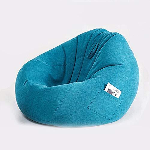 CKRBACY Bolsa de Frijoles Perezosos, Suave y cómoda, con Bolso Acolchado, cómodo de Frijol, Silla de Frijol, sofá, Duradero y cómodo, para Adultos y niños,Azul