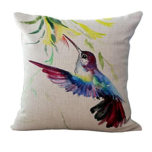 MissW Funda De Almohada Decorativa De La Serie De Pájaros con Pintura En Tinta Sin Núcleo De Almohada con Funda De Almohada con Cremallera Adecuada para El Sofá del Coche