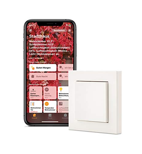 Eve Light Switch - Smarter Lichtschalter mit Apple HomeKit Technologie, Kompatibilität für Mehrfachschalter, integrierte Zeitpläne, anpassbares Design