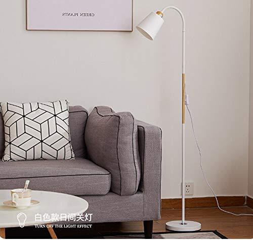 Tivivose Lámpara de pie Blanca Negra Moderna Nordic Venta Grande Lámparas de pie Lámpara de pie Simple Esquina de pie Lámpara de Esquina Lámpara de apartamento (Lampshade Color : White)