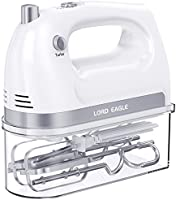 Lord Eagle Hand Mixer Electric, 400W Power handheld Mixer for Baking Cake Egg Cream Food Beater, Turbo Boost/Self-Control...