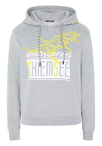 Chiemsee Sweatshirt mit Kapuze und großem Frontprint - GOTS Zertifiziert XL Neutr. Gray M