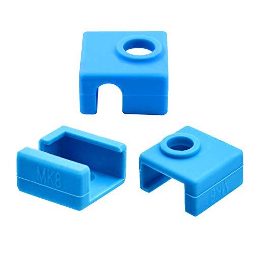 3D Printer Heater Block Silicone Sock Extruder Case Cover MK8 Nozzle Hotend...
