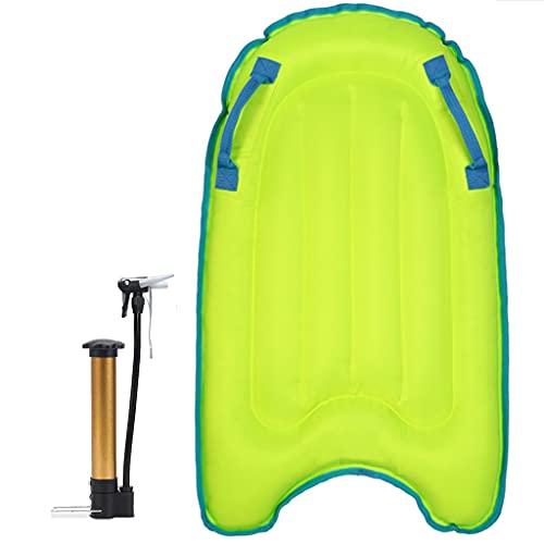 Tablas Inflables De Playa para Principiantes De Natación,Tablas De Bodyboard Ligeras con Asas,Tablas De Surf Flotadores De Piscina,Tablas para Surfear, Nadar, Divertirse En El Agua (Color : Green)