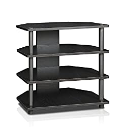 top 10 tower tv stands Furinno Turn-N-Tube Easy Assembly 4-Stage Mini TV Stand, Blackwood